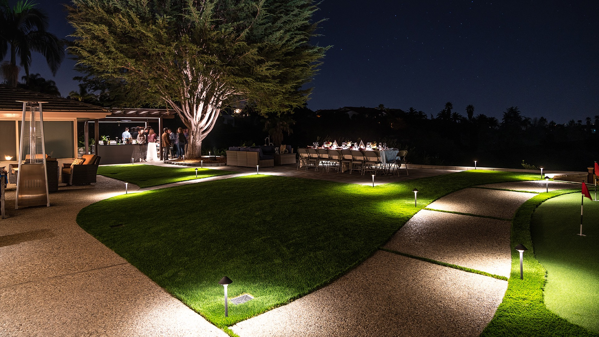 Lighting services by EcoLawn Santa Barbara