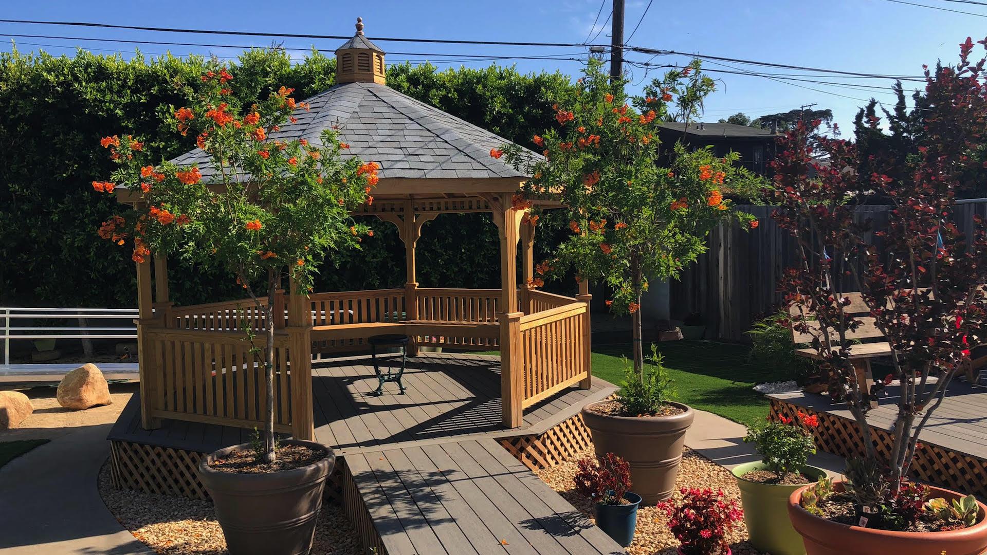 gazebos as a shade structure by EcoLawn Santa Barbara