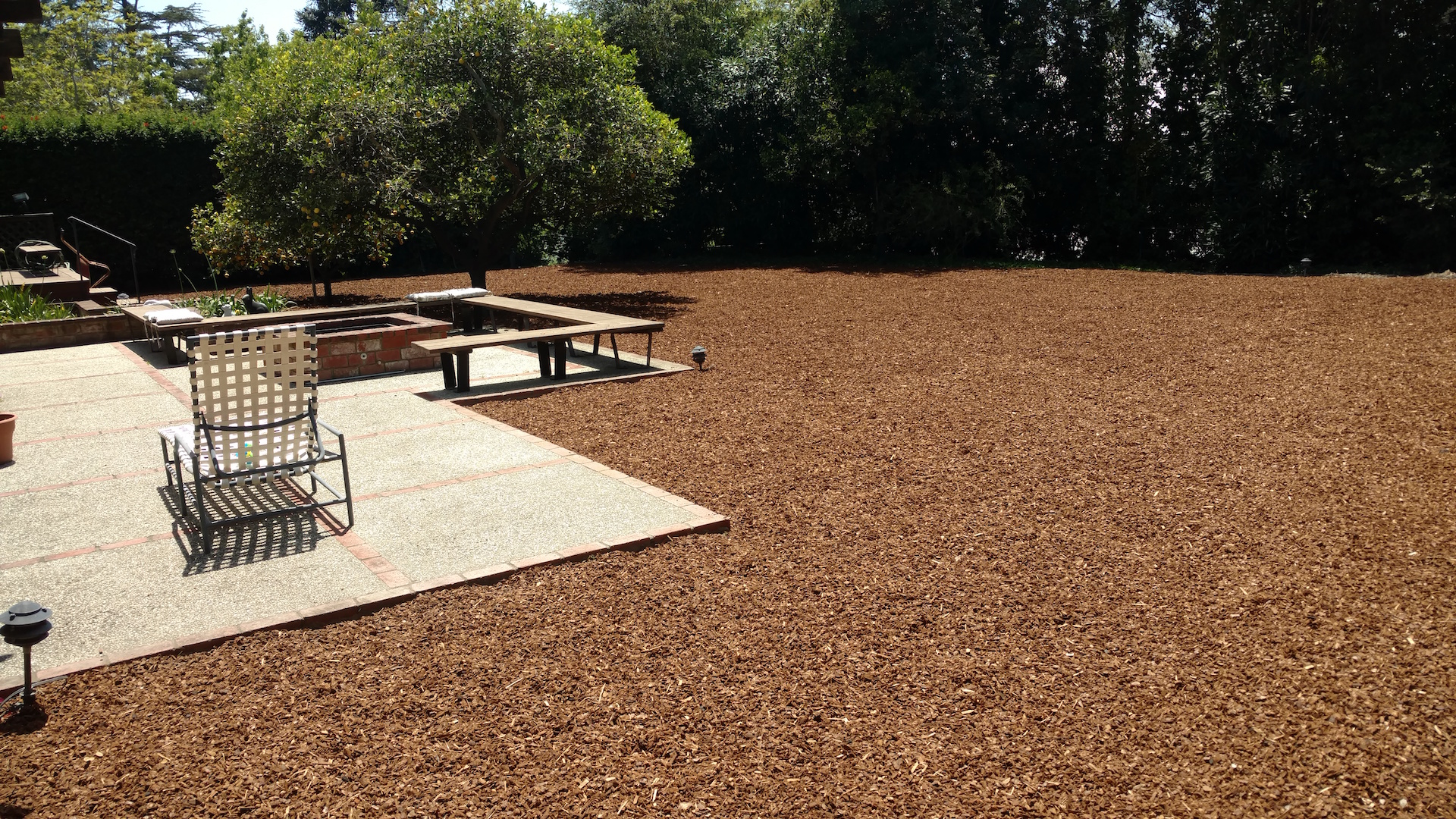 mulch for low maintenance yards by EcoLawn Santa Barbara