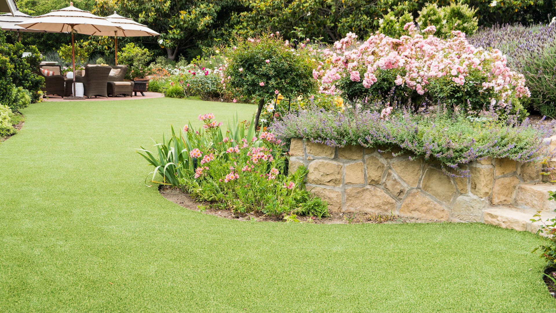 synthetic grass for low maintenance yards by EcoLawn Santa Barbara